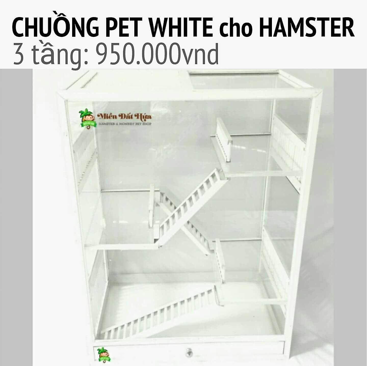 CHUỒNG HAMSTER PET WHITE : 3TẦNG