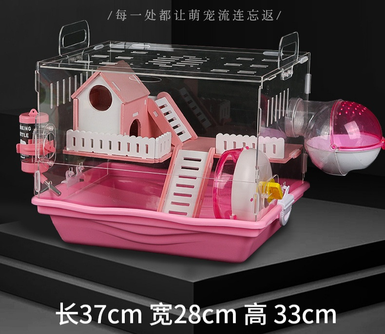 Lồng hamster mika khay nhựa arylic trong suốt full toy
