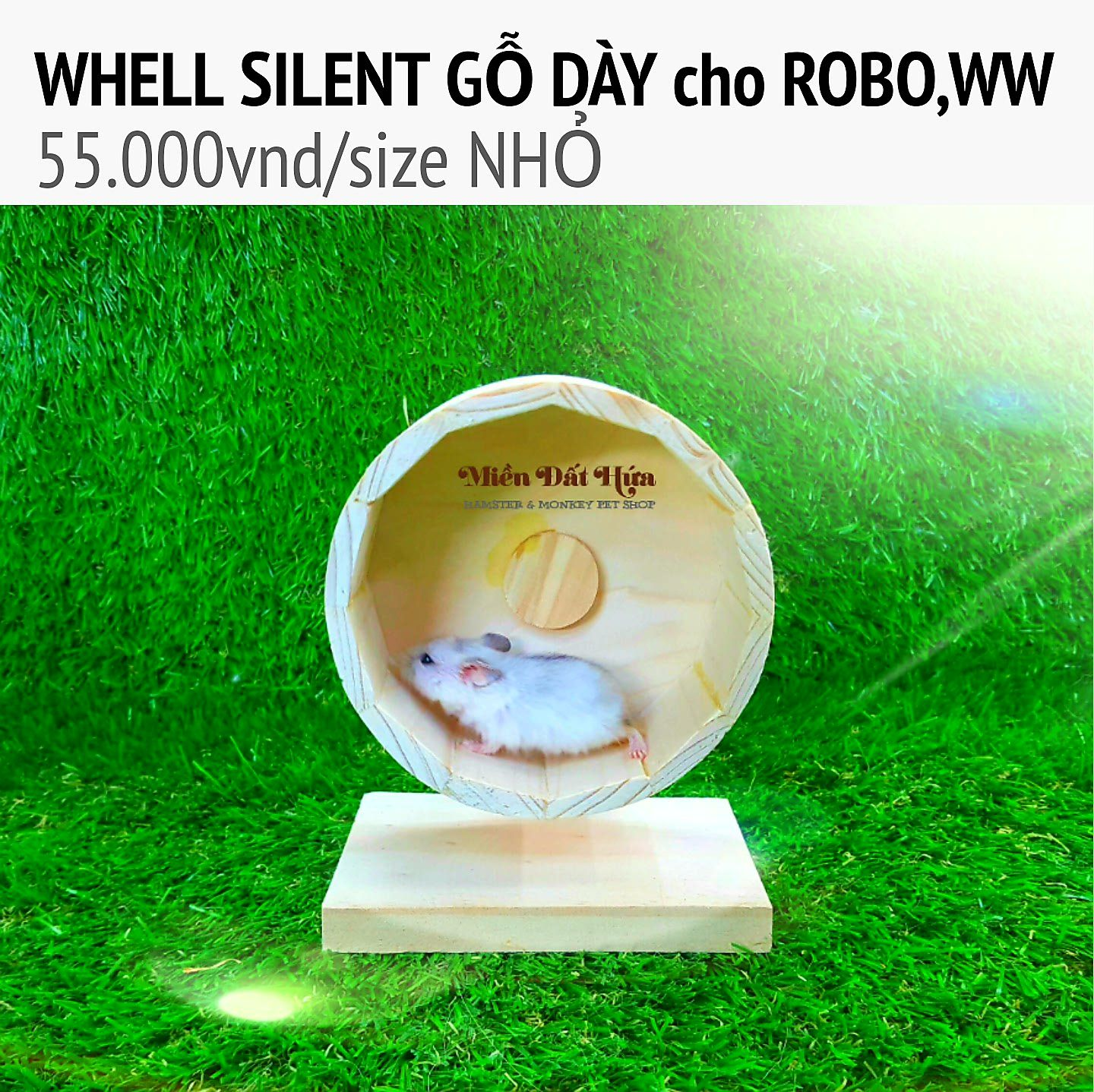 Whell sillent gỗ size nhỏ