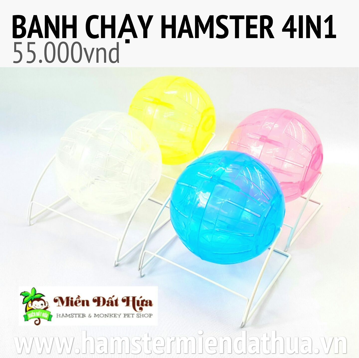 banh chạy hamster 4in1 new