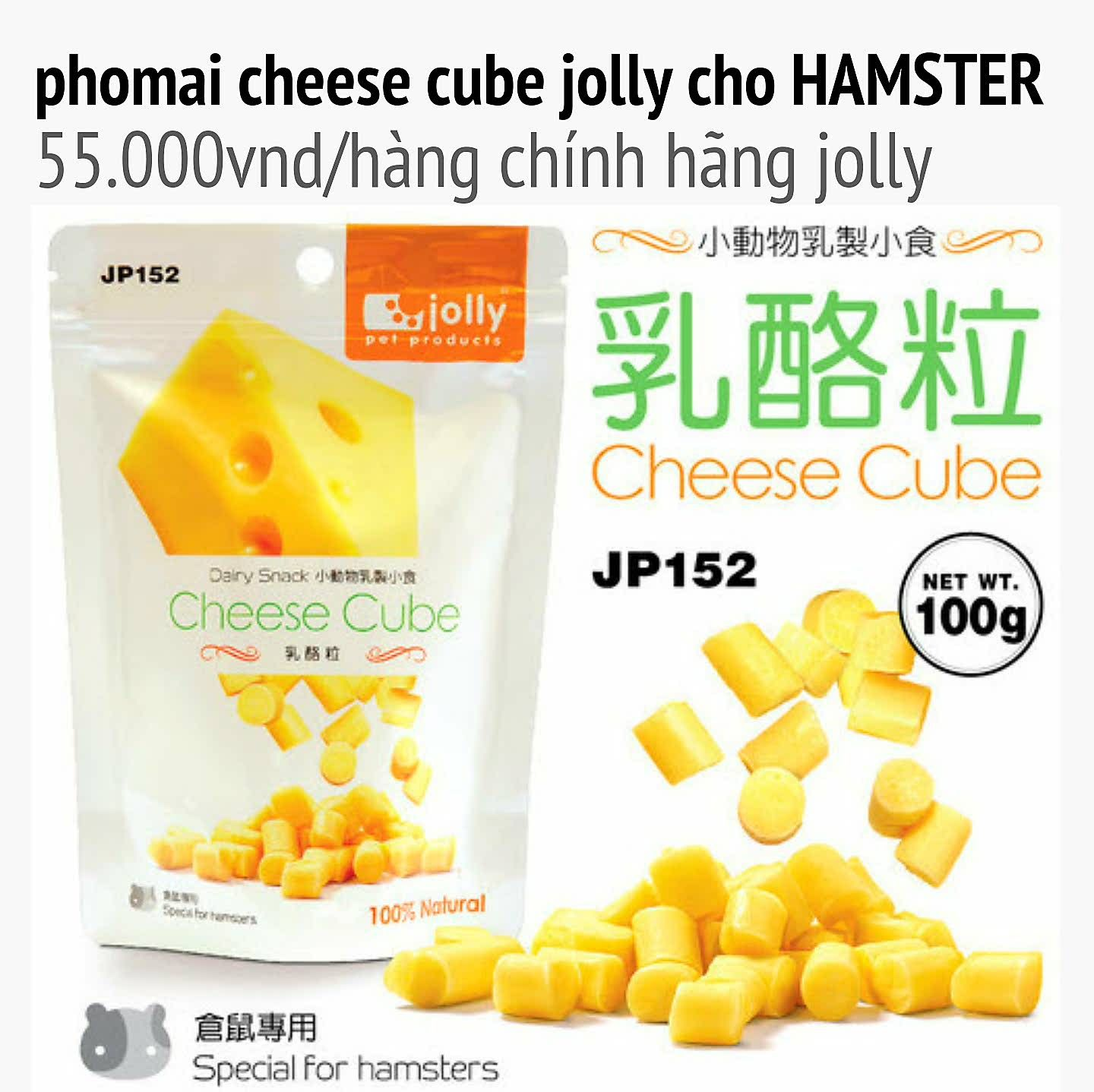 cheese cube cho fatailed,hamster,thỏ,bọ
