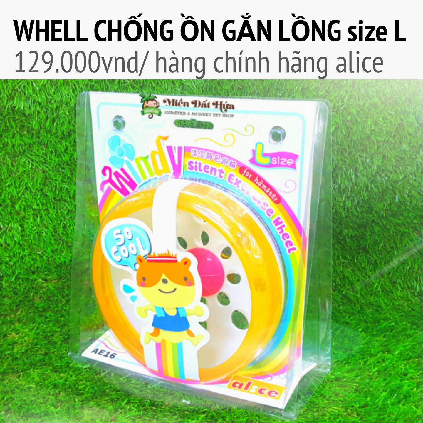 Whell silent chống ồn gắn lồng size L alice