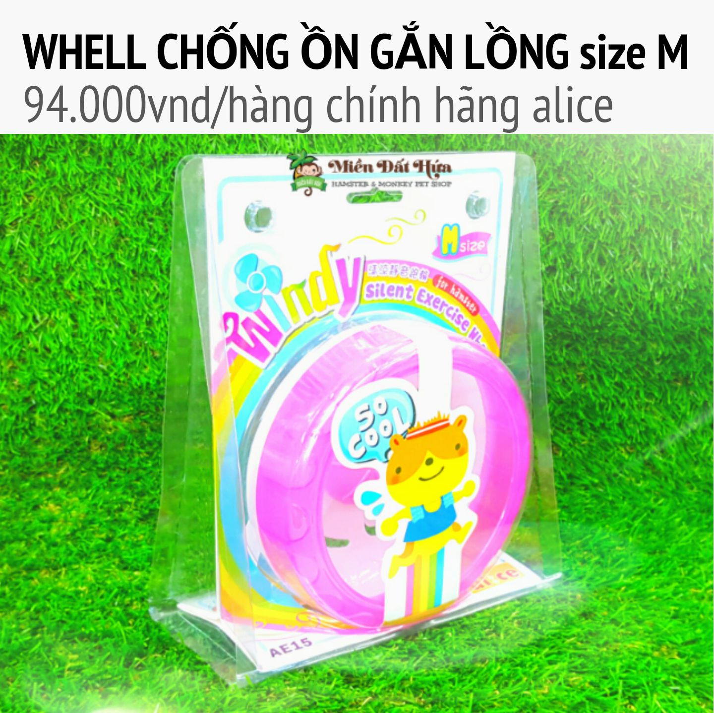 Whell silent chống ồn gắn lồng size M  alice