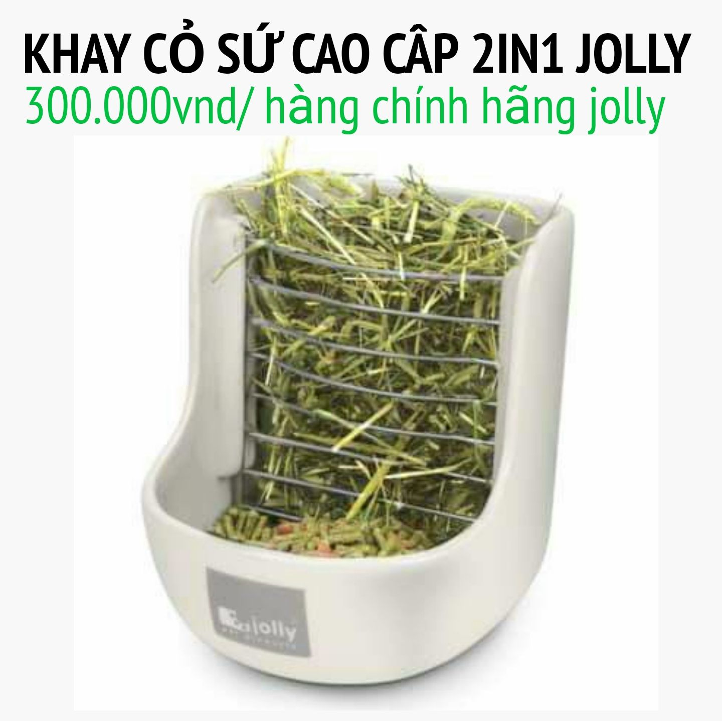 Máng cỏ sứ 2in1 cao cấp jolly