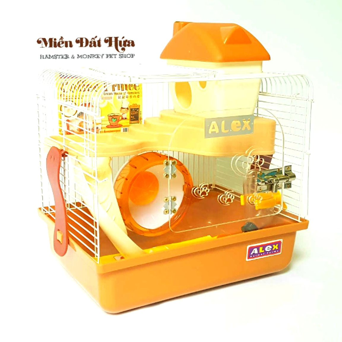 LỒNG cafe alex trong suốt cho hamster