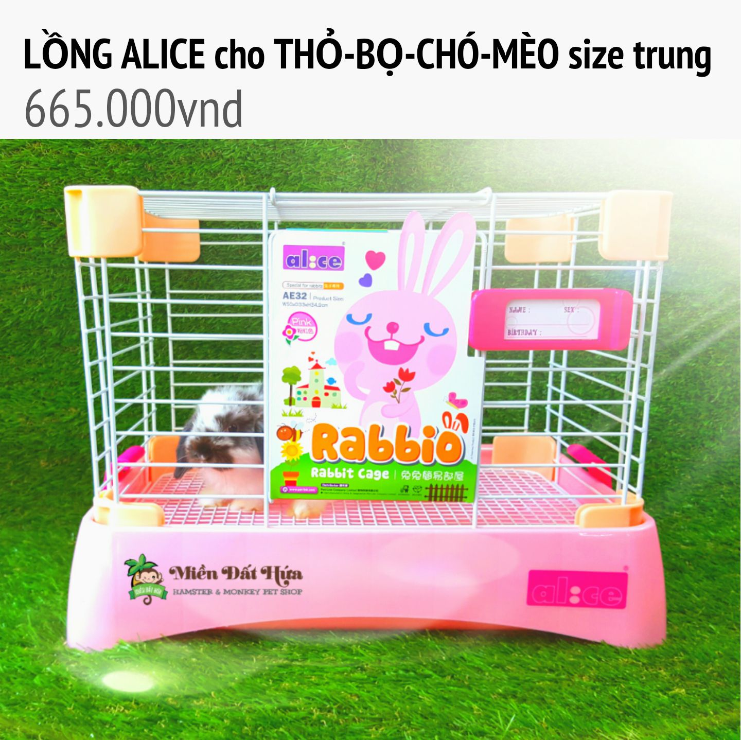 lồng alice cho thỏ  size trung