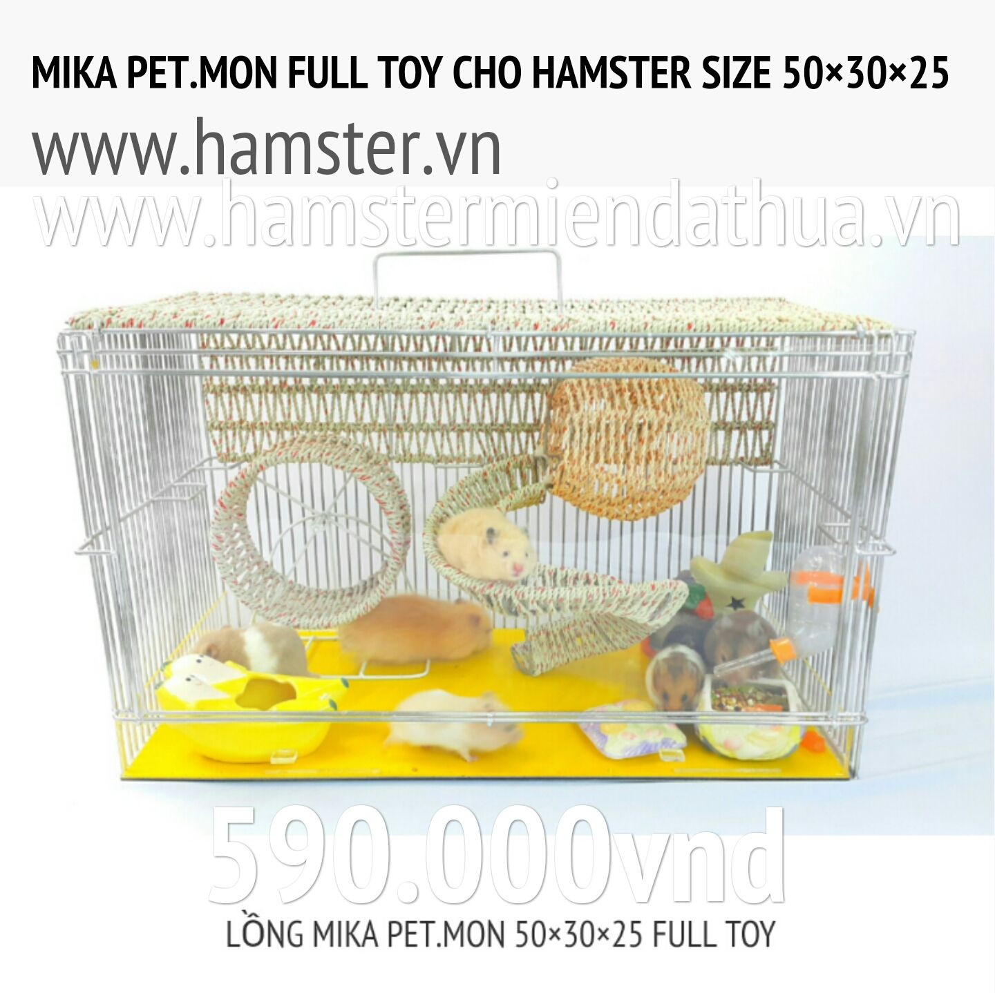 thiết kế mới mika pet.mon cage hamster 590