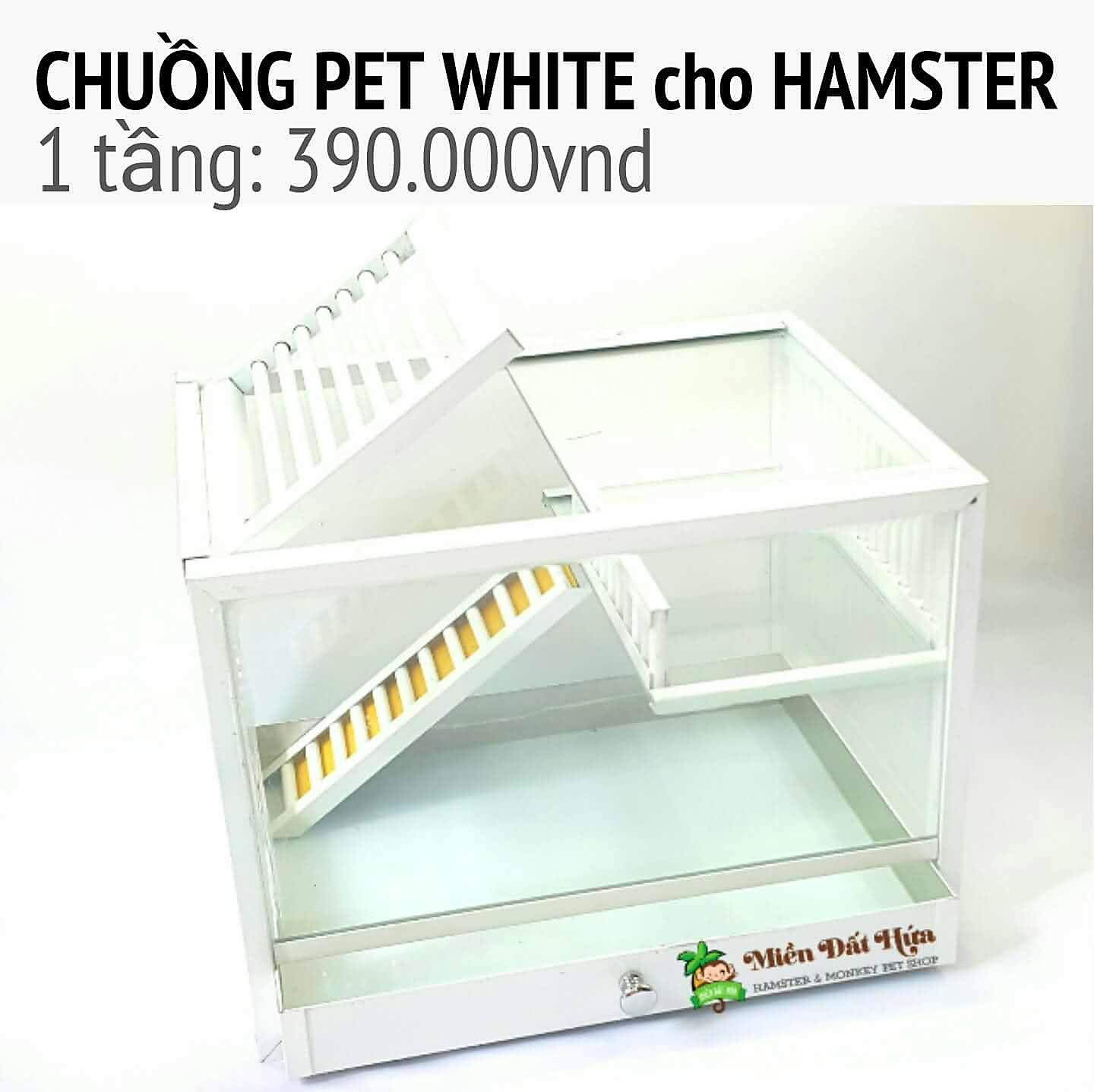 chuồng hamster pet white 1 tầng